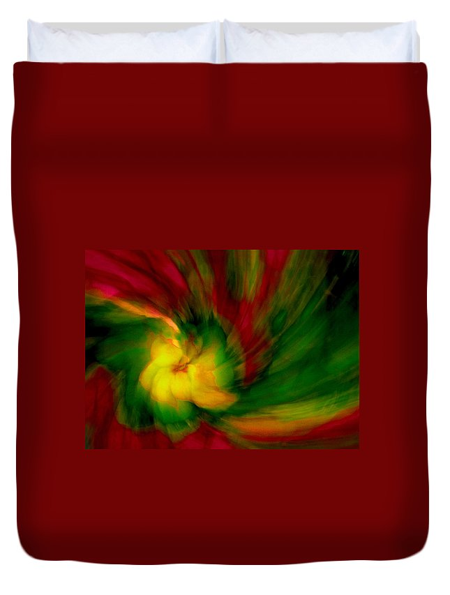 Abstract Duvet Cover featuring the photograph Whirlwind Passion by Neil Shapiro