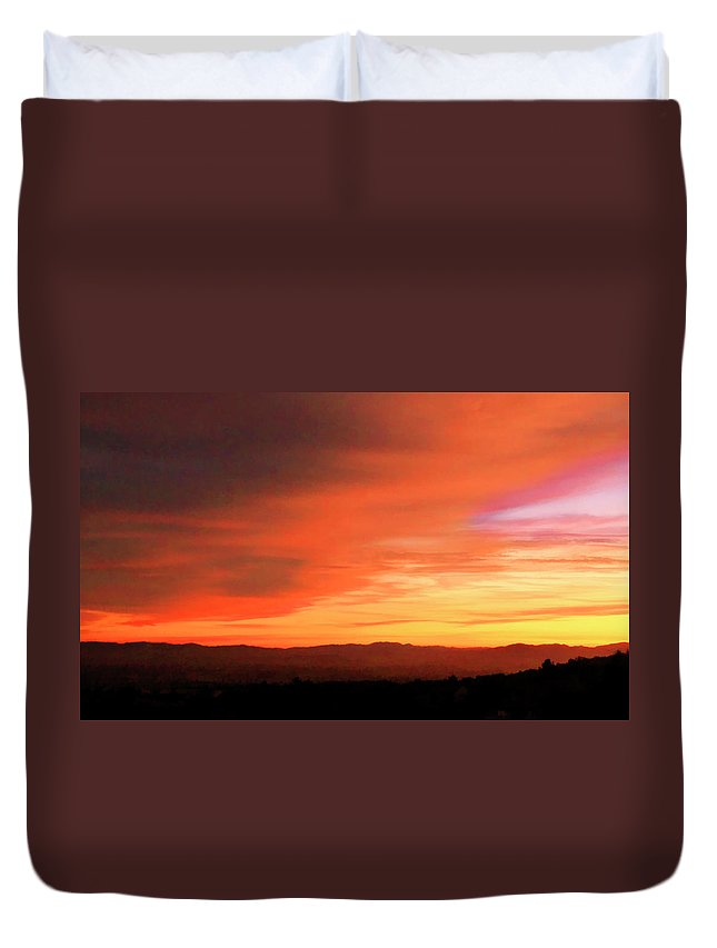 Sunset Duvet Cover featuring the photograph Whisper by Pauline Darrow