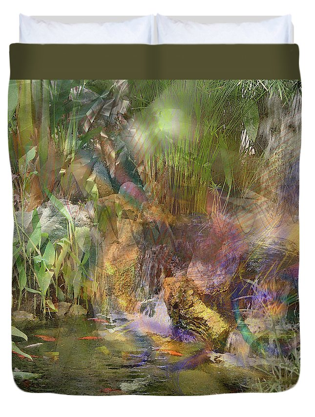 Whispering Waters Duvet Cover featuring the digital art Whispering Waters by John Beck