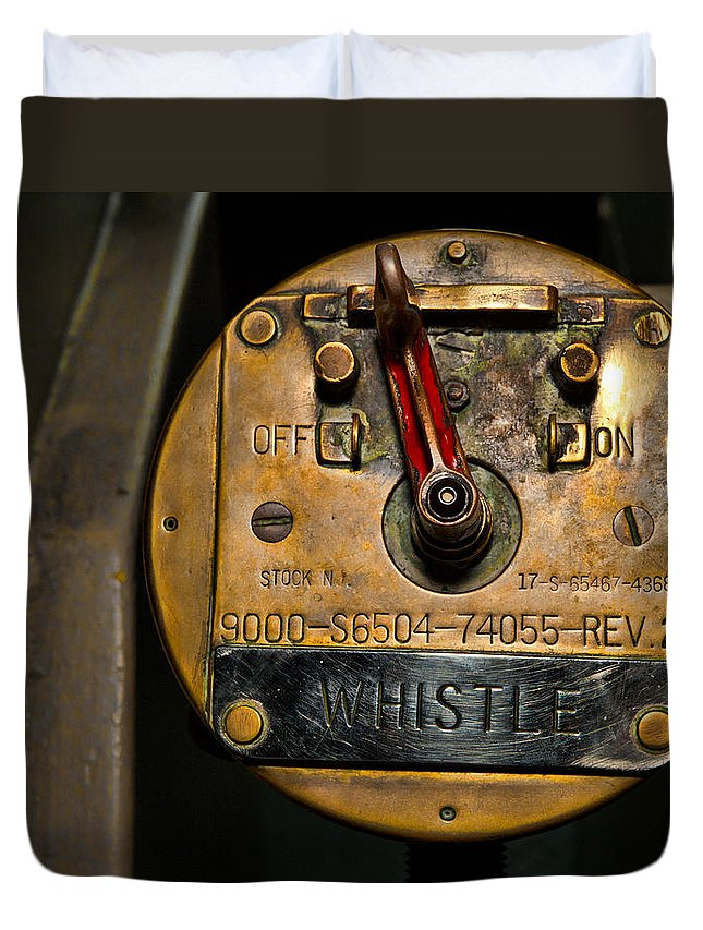 Switch Duvet Cover featuring the photograph Whistle Switch by Christopher Holmes