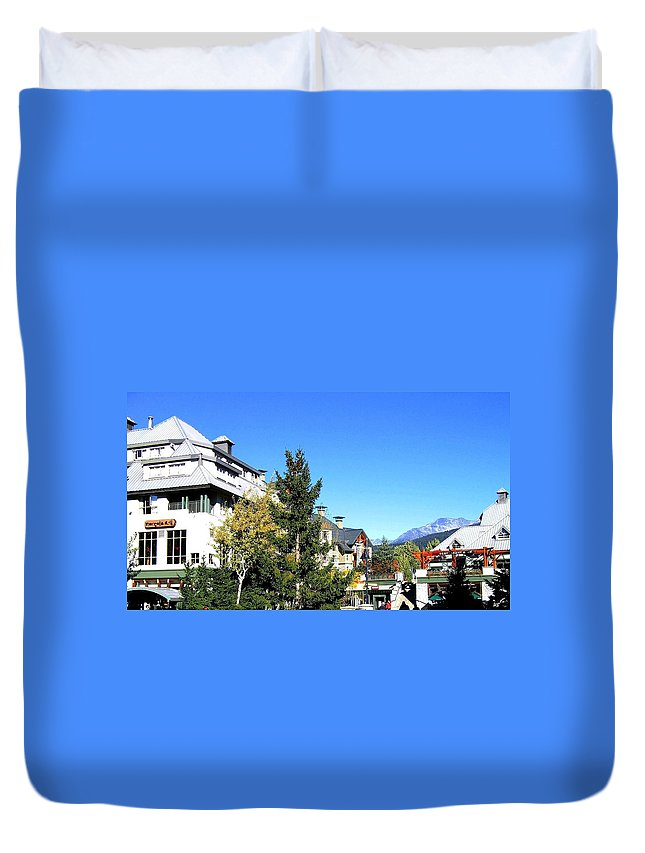 2010 Olympics Duvet Cover featuring the photograph Whistler Village by Will Borden