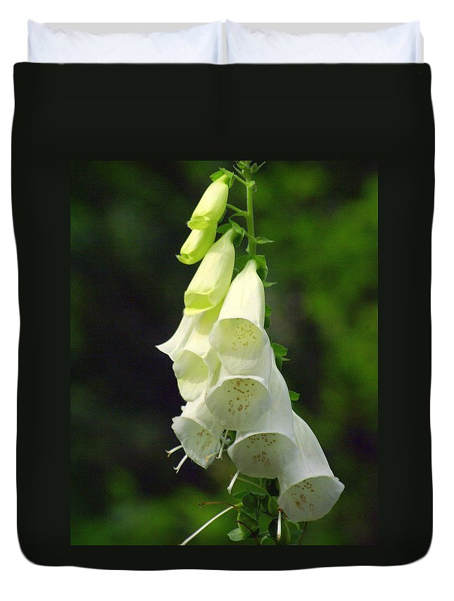 Flowers Duvet Cover featuring the photograph White Bells by Marty Koch
