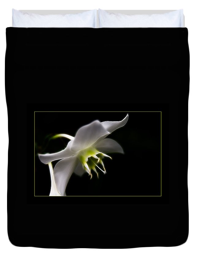 Flower Duvet Cover featuring the photograph White Bloom by Ricky Barnard