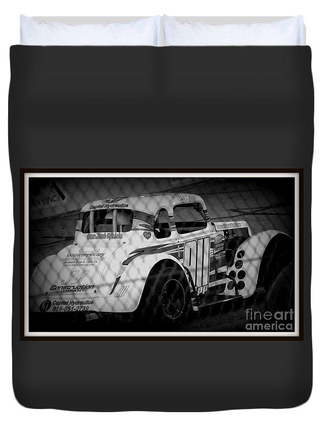 White Car Duvet Cover featuring the photograph White Car by Anita Goel