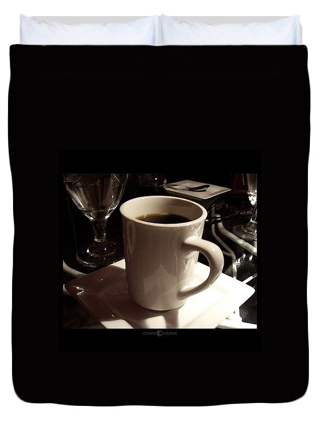 White Duvet Cover featuring the photograph White Cup by Tim Nyberg