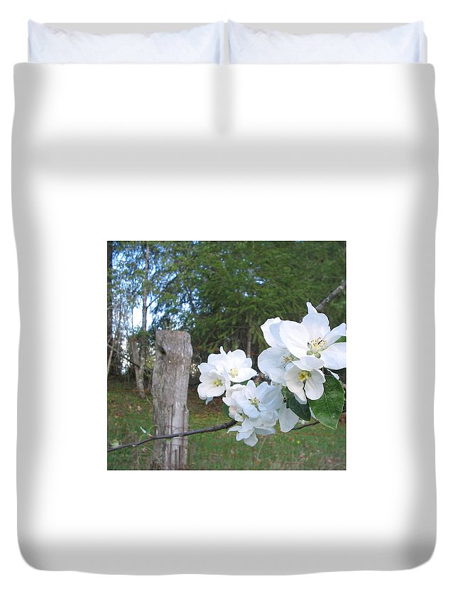 Flowers Duvet Cover featuring the photograph White Flowers by Valerie Josi