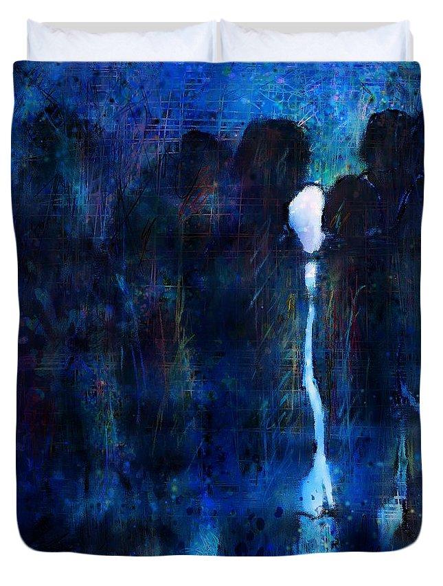 Girl Duvet Cover featuring the digital art White Girl by Rachel Christine Nowicki
