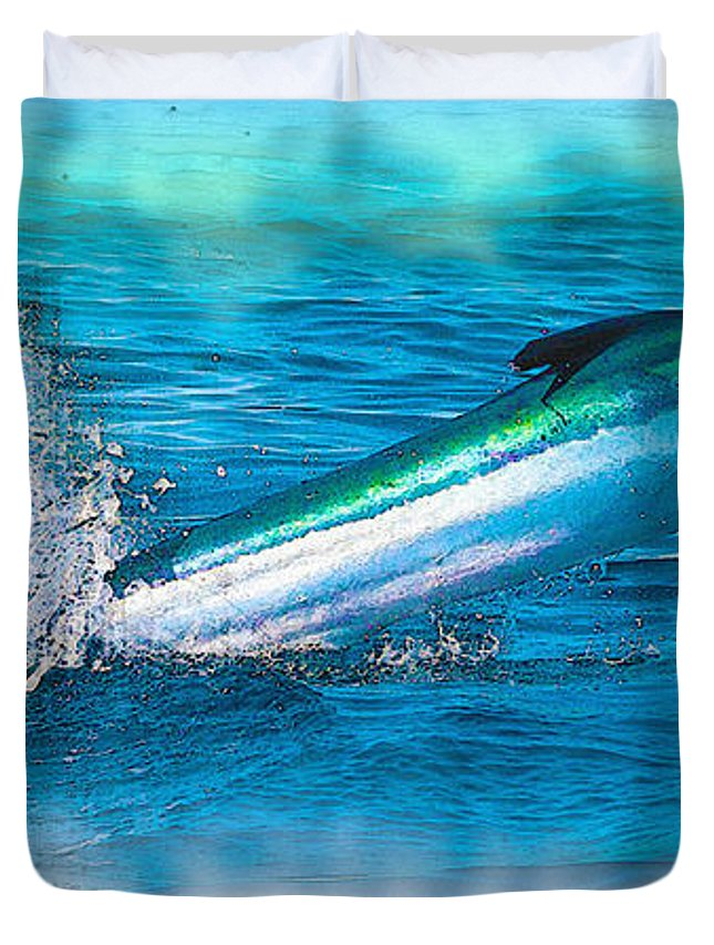 Fishing Art & Collectibles Duvet Cover featuring the digital art White Marlin - From The Outer Banks Of North Carolina To Cape M by Don Kuing