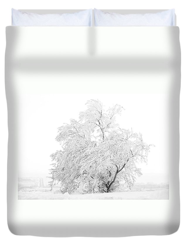 Snow Duvet Cover featuring the photograph White On White by Marilyn Hunt