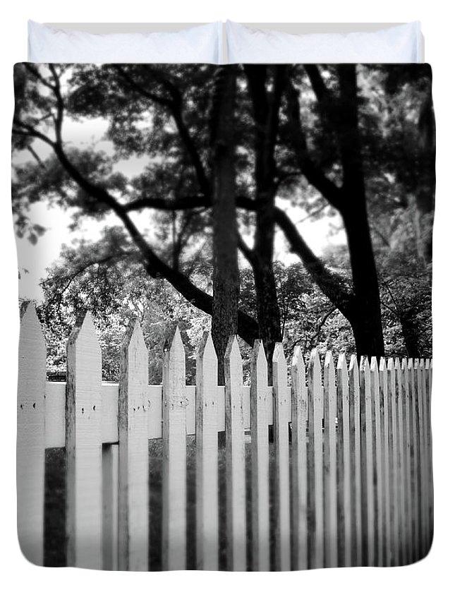 White Fence Duvet Covers