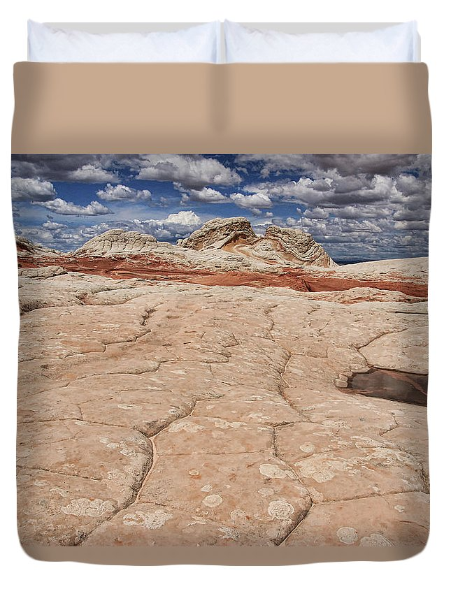 White Pocket Duvet Cover featuring the photograph White Pocket # 4 by Allen Beatty