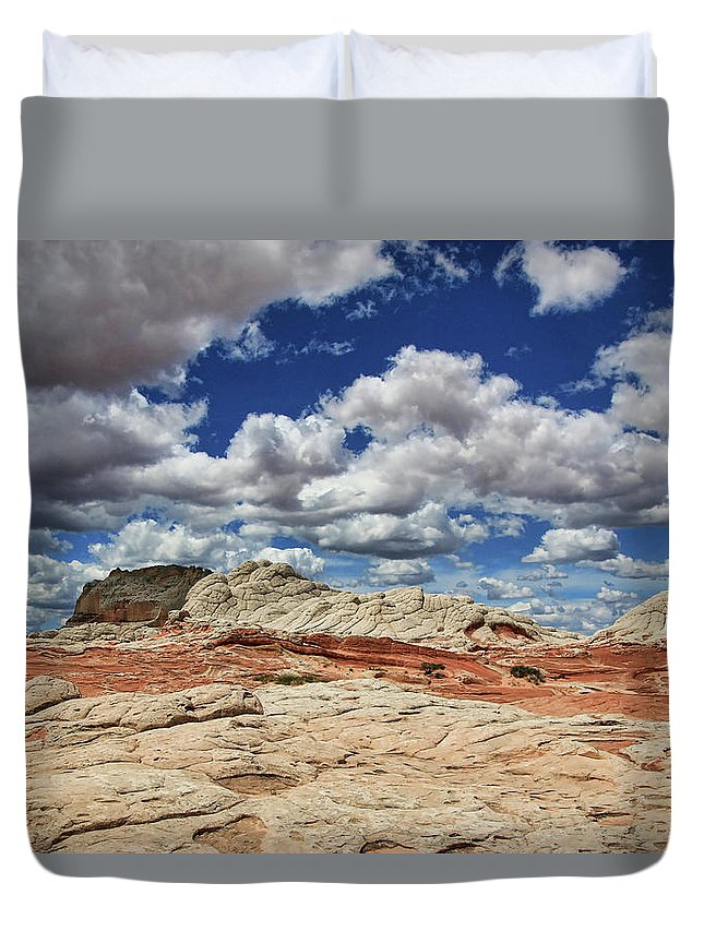 White Pocket Duvet Cover featuring the photograph White Pocket # 5 by Allen Beatty