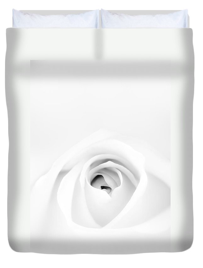 White Duvet Cover featuring the photograph White Rose by Scott Norris