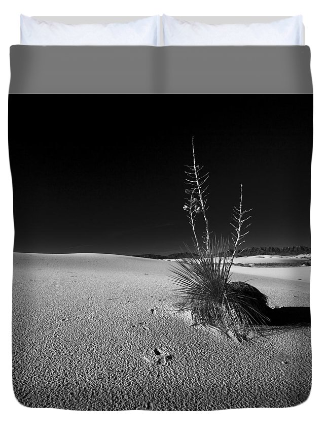 Mexico Duvet Cover featuring the photograph White Sand, Nm by Avril Christophe