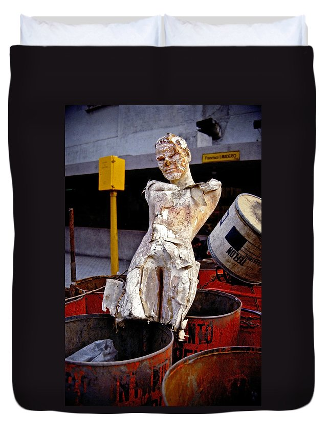 Trash Duvet Cover featuring the photograph White Trash by Skip Hunt
