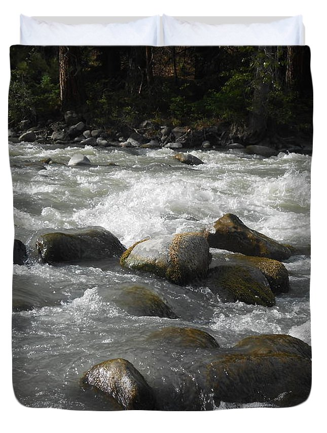 White Waters Duvet Cover featuring the photograph White Waters by LKB Art and Photography