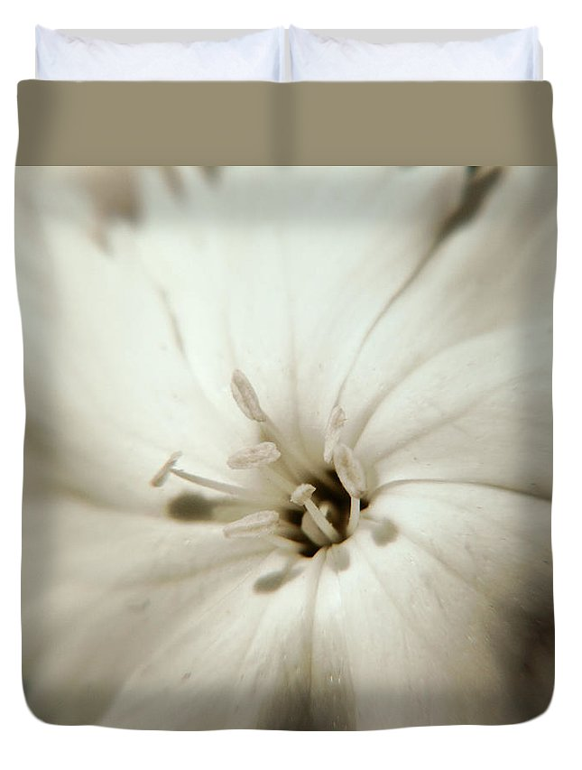 Flower Duvet Cover featuring the photograph White Waves by Jackie Farnsworth