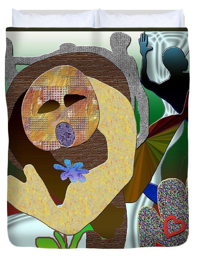 Flower Duvet Cover featuring the digital art Whitout Title by Sitara Bruns