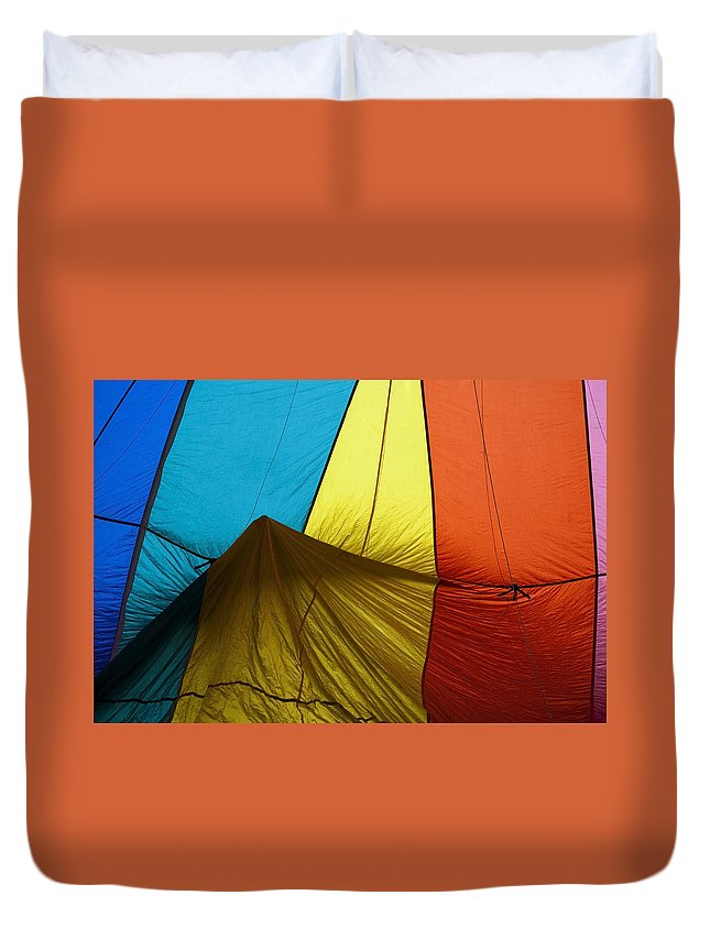 Balloon Duvet Cover featuring the photograph Who Landed This Balloon On Me by Mike Dawson