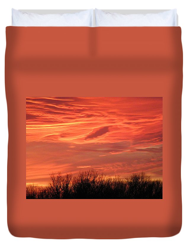 Sunset Duvet Cover featuring the photograph Who Needs Jupiter by Gale Cochran-Smith