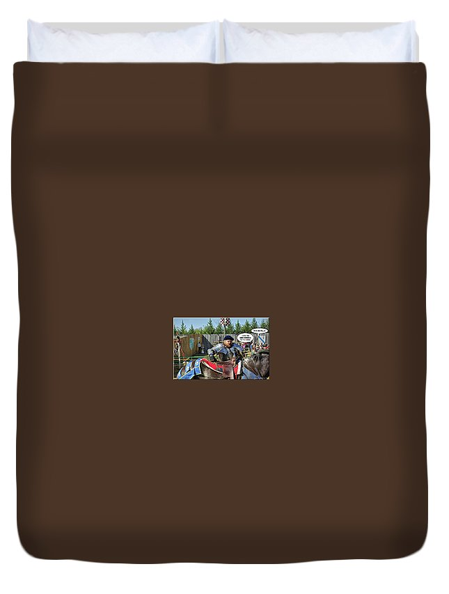 2d Duvet Cover featuring the photograph Whoa Big Fella by Brian Wallace