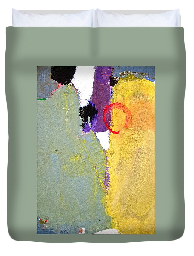 Abstract Painting Duvet Cover featuring the painting Whole Stein by Cliff Spohn
