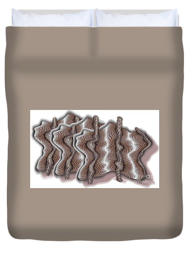 Basket Duvet Cover featuring the digital art Wickered by Ron Bissett