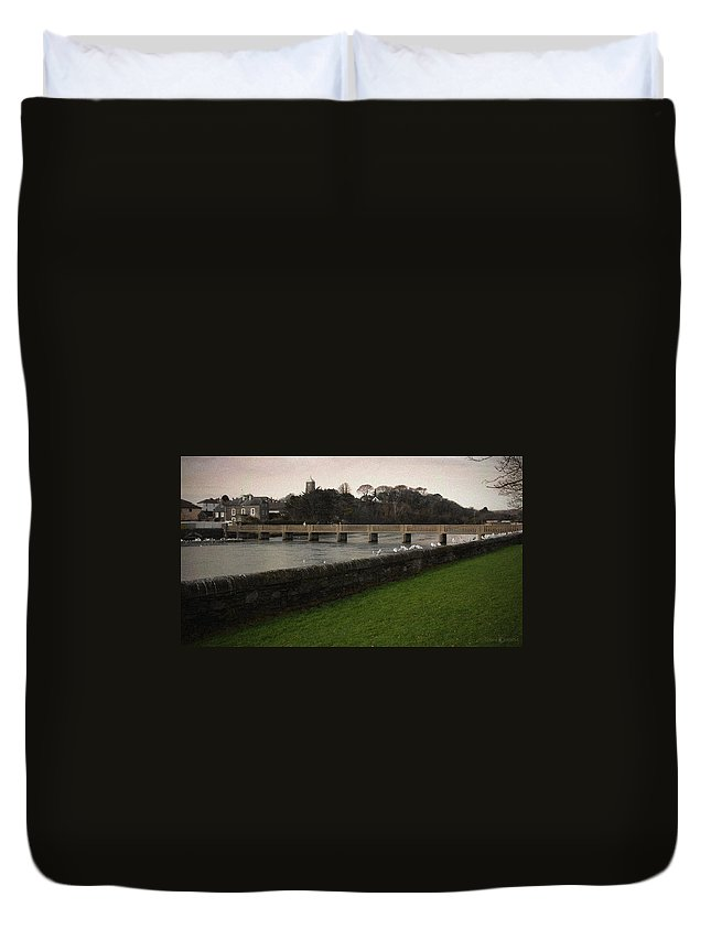 Footbridge Duvet Cover featuring the photograph Wicklow Footbridge by Tim Nyberg