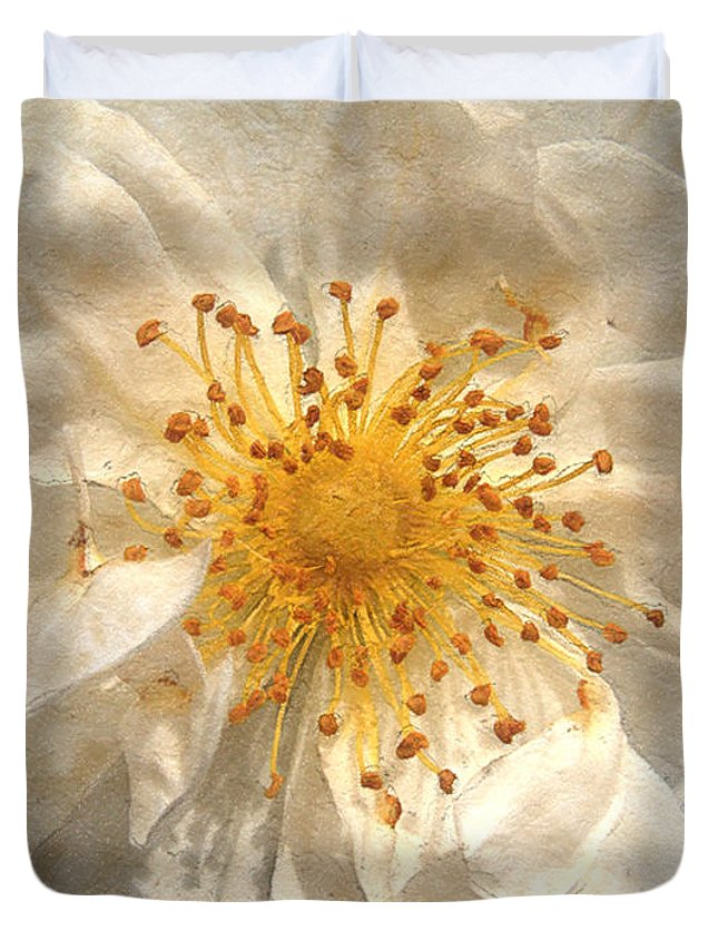 Rose Duvet Cover featuring the painting Wide Open by RC deWinter