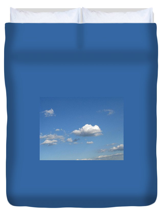 Clouds Duvet Cover featuring the photograph Wide Open by Rhonda Barrett