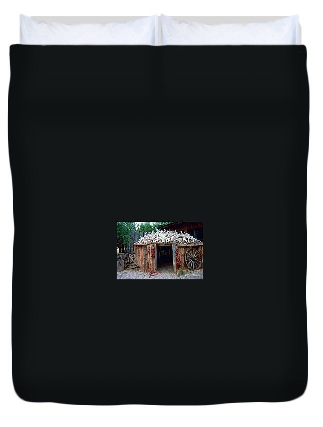 Wigwam Duvet Cover featuring the photograph Wigwam by Louise Magno