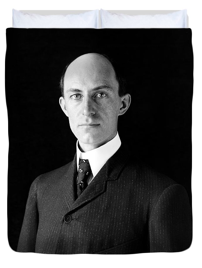 Wright Brothers Duvet Cover featuring the photograph Wilbur Wright - 1905 by War Is Hell Store