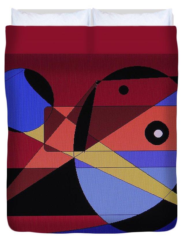 Abstract Bird Duvet Cover featuring the digital art Wild Bird by Ian MacDonald