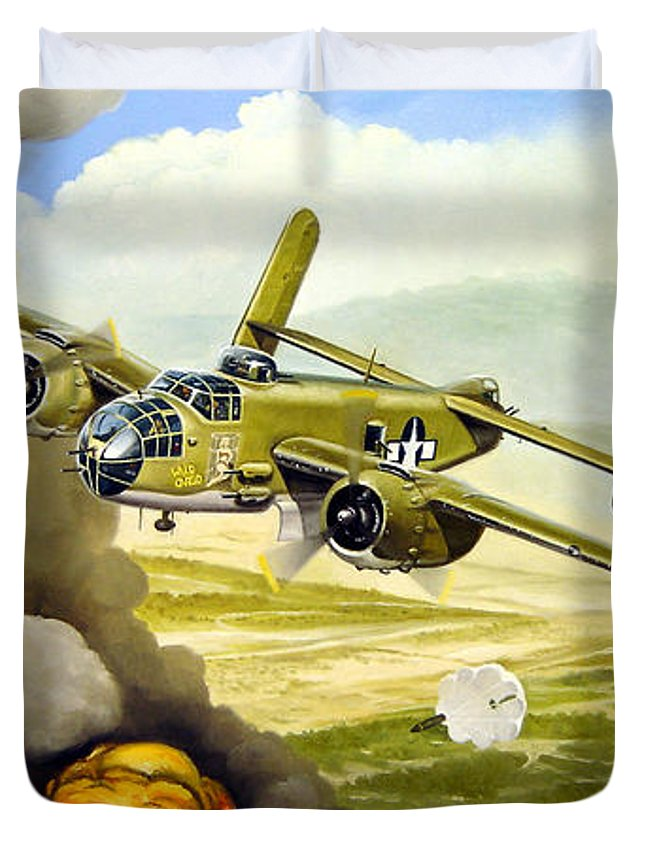 Aviation Duvet Cover featuring the painting Wild Cargo by Marc Stewart