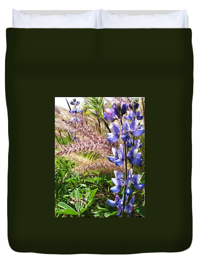 Flower Duvet Cover featuring the photograph Wild Flower by Shari Chavira