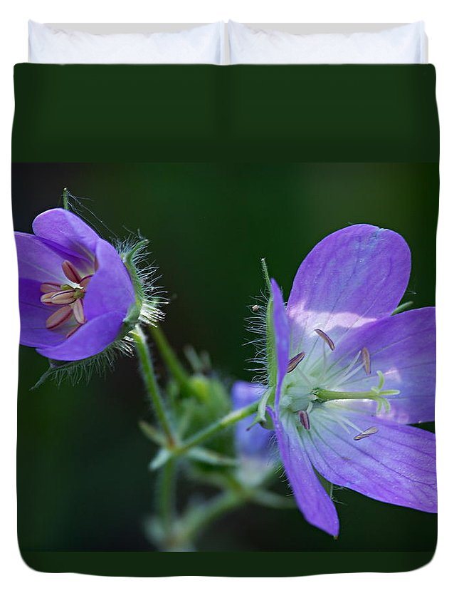 Geranium Duvet Cover featuring the photograph Wild Geraniums by Larry Ricker