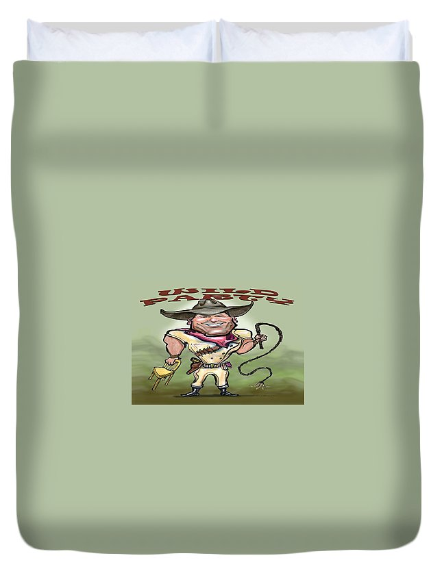 Wild Party Duvet Cover featuring the greeting card Wild Party by Kevin Middleton