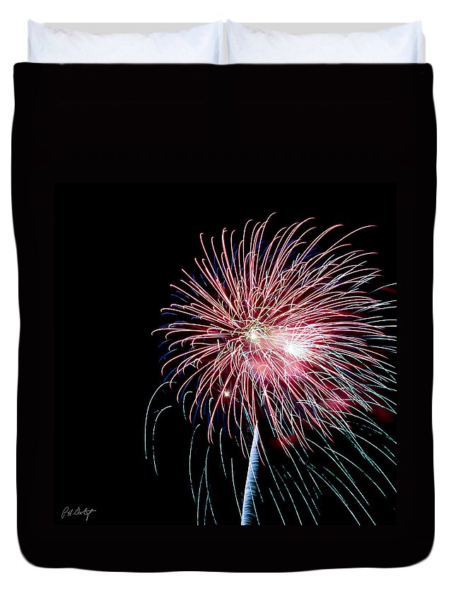 July 4th Duvet Cover featuring the photograph Wild Sky Flower by Phill Doherty