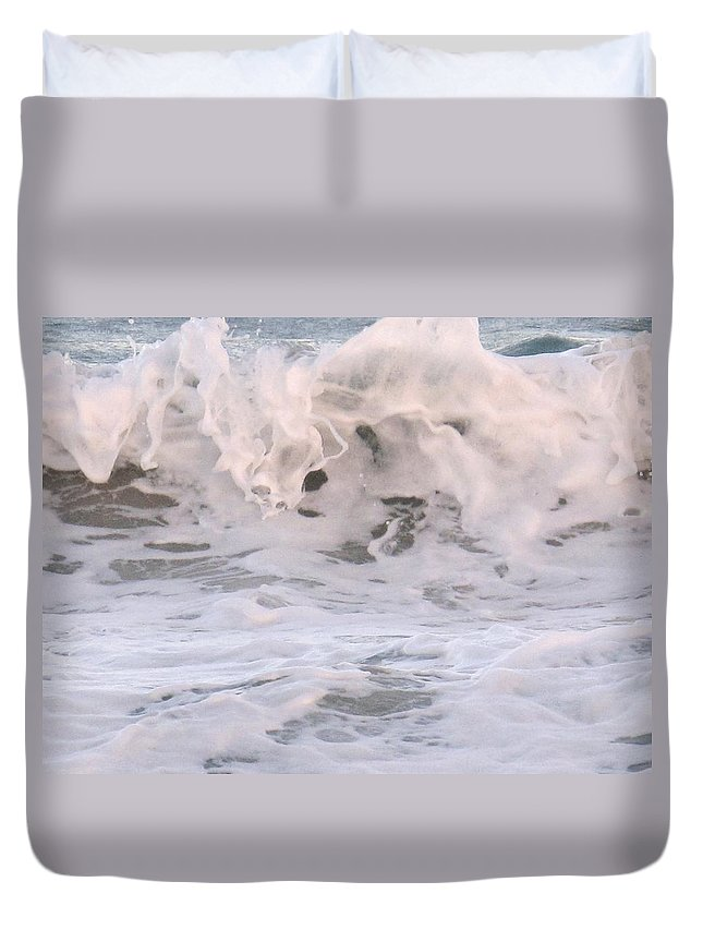 Surf Duvet Cover featuring the photograph Wild Surf by Ian MacDonald