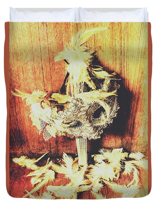 Saloon Duvet Cover featuring the photograph Wild West Saloon Dancer Still Life by Jorgo Photography - Wall Art Gallery