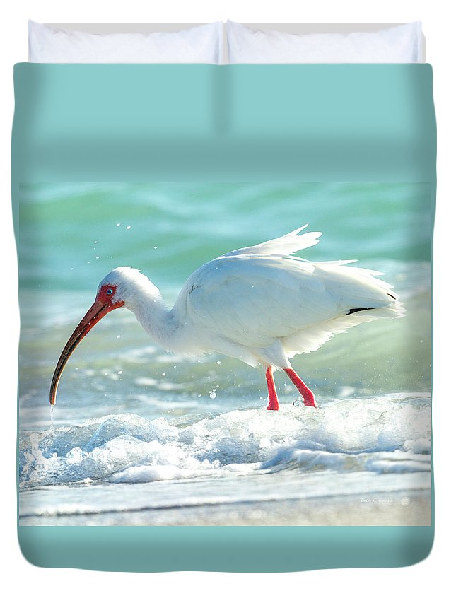 Ibis Duvet Cover featuring the photograph Wild Winds by Betsy Knapp