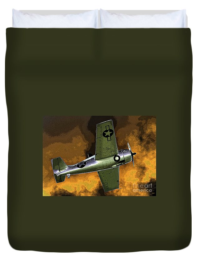 Wildcat Duvet Cover featuring the painting Wildcat by David Lee Thompson