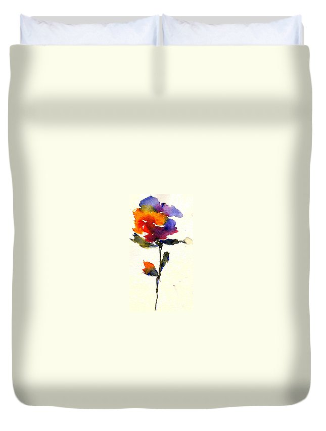 Flower Duvet Cover featuring the painting Wildflower by Anne Duke