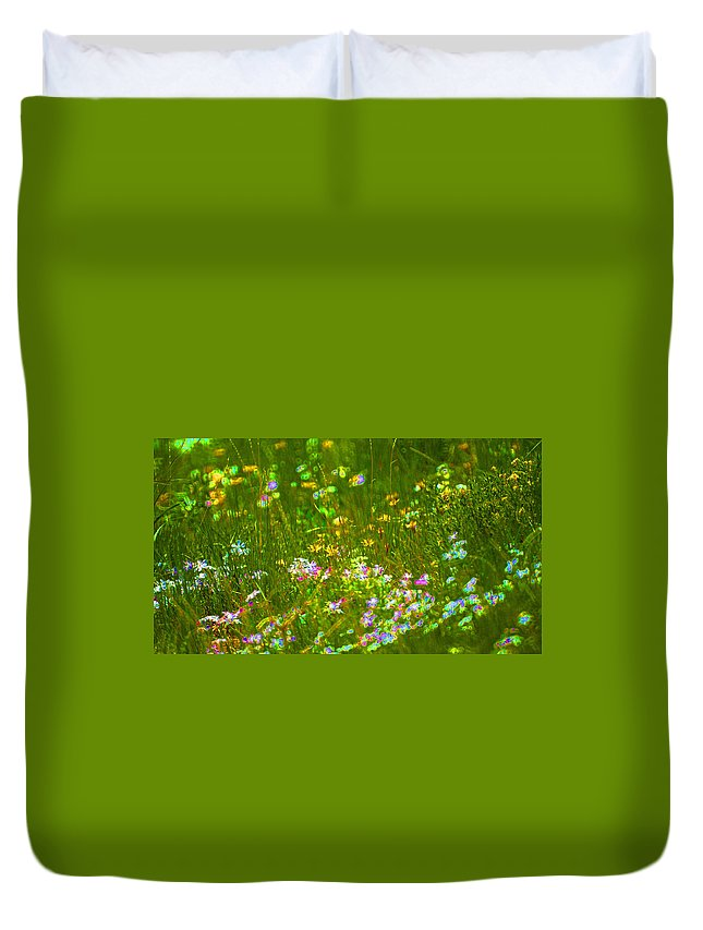 Wildflower Duvet Cover featuring the photograph Wildflower Field by Heather Coen