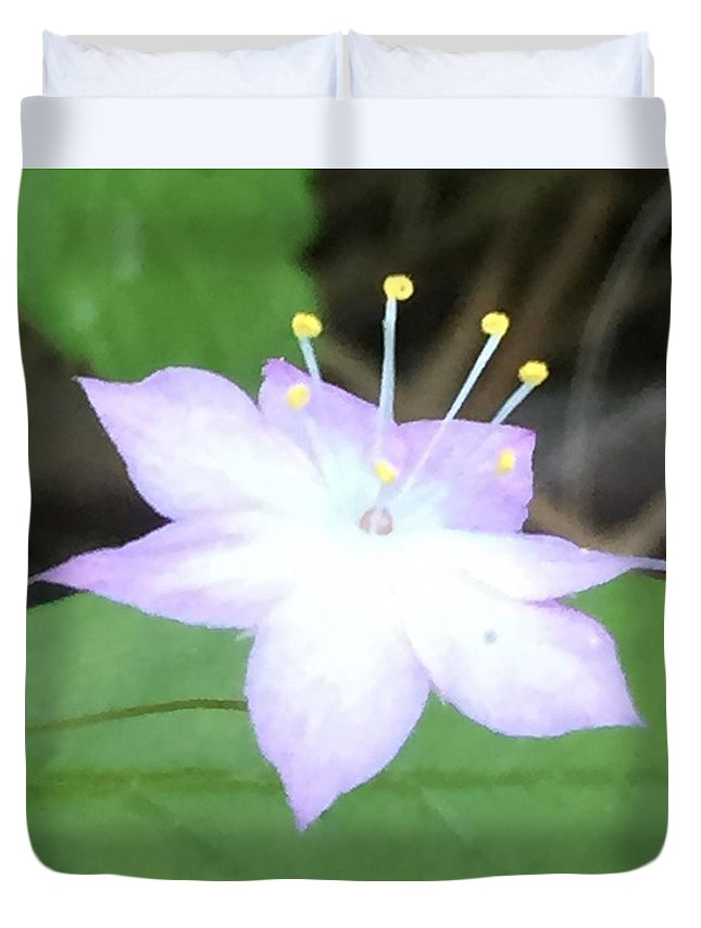 Flower Duvet Cover featuring the photograph Wildflower Salute by Vonda Drees
