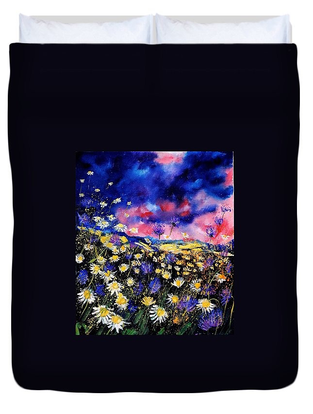 Flowers Duvet Cover featuring the painting Wildflowers 67 by Pol Ledent