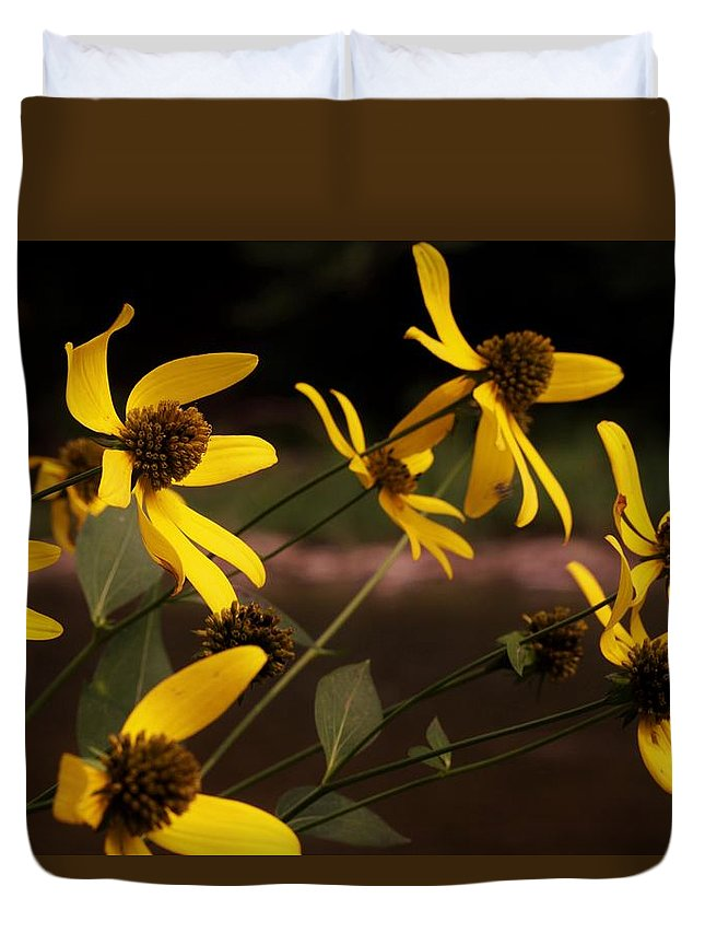 Flowers Duvet Cover featuring the photograph Wildflowers Creekside by Alison Gregg
