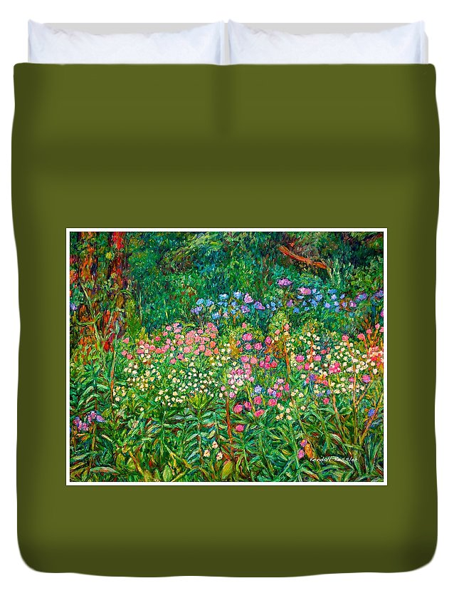 Floral Duvet Cover featuring the painting Wildflowers Near Fancy Gap by Kendall Kessler