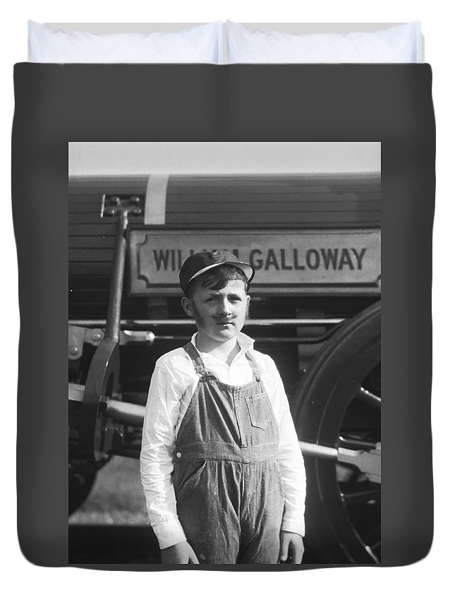 William Galloway Duvet Cover featuring the photograph William Galloway by The Baltimore and Ohio Railroad