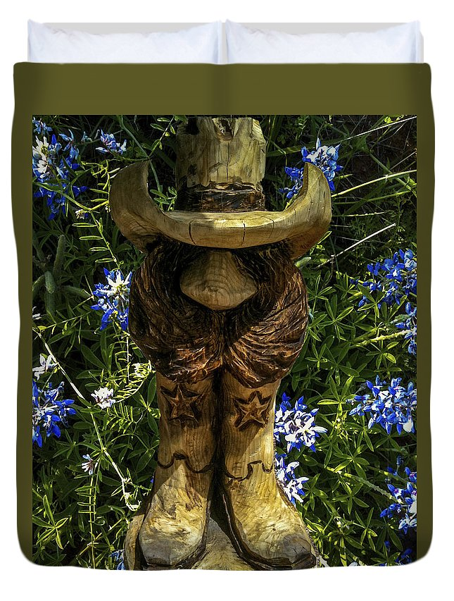Bluebonnets Duvet Cover featuring the photograph Willie by Kenny Kunzman